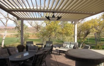 Equinox louvered roof patio covers